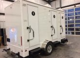 3 Station 14' Luxury Spa Portal Toilet Restroom Trailer